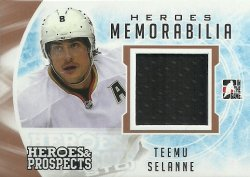 2016/17 Leaf ITG Heroes and Prospects Hero Memorabilia Selanne