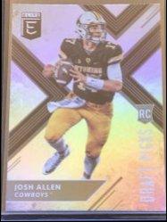2018 Donruss Elite Draft Picks #103A Josh Allen RC/(black jsy)