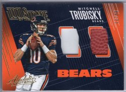 2018 Panini Absolute Mitchell Trubisky Tools of the Trade Double Prime