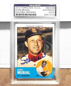2012 Topps Heritage Stan Musial Auto PSA/DNA