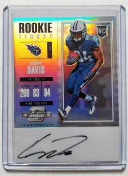 2017 Panini Contenders Optic Corey Davis Rookie Ticket Auto