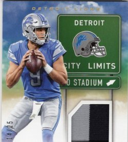 2017 Panini Playoff City Limits  Matthew Stafford