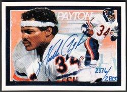 1992   Walter Payton Upper Deck Heroes Auto #2376/2800
