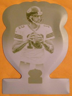 2014 Panini Crown Royale Aaron Rodgers Yellow Printing Plate