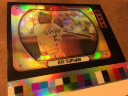 2000 Bowman Television ReFractor UNCUT Proof  RAY DURHAM #32 WhiteSoX AllStar 2B