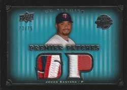 08 Upper Deck Premier Premier Patches #ed 73 of 75