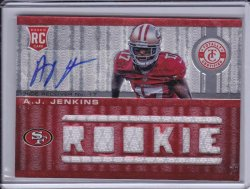 A.J. Jenkins 2012 Totally Certified Rookie JSY AUTO /199