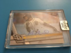 2017 Topps Clearly Authentic  Manny Margot Rookie Autograph