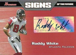 Roddy White 2005 Bowman Signs of the Future Autograph