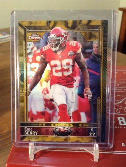 2015 Topps Chrome  Eric Berry gold ref/50