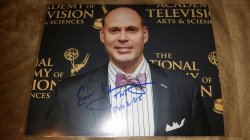 2016   Ernie Johnson 8x10 IP Autograph