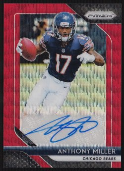 2018 Panini Prizm Rookie Autographs Prizms Red Wave Anthony Miller