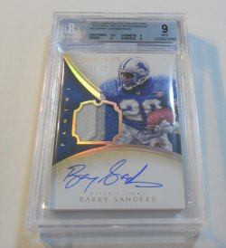 2014 Panini Immaculate Collection Barry Sanders patch autograph