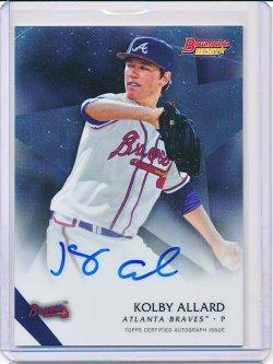 Kolby Allard 2015 Bowmans Best Best of 2015 Autographs