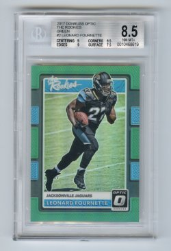 2017 Donruss Optic The Rookies Green #2 Leonard Fournette/5 BGS 8.5