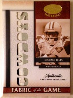 2008 Donruss Leaf Certified Materials Fabric of the Game Team Name Die Cut Prime Michael Irvin