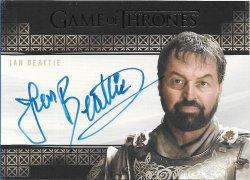 2020  Rittenhouse Game of Thrones Season 8 Valyrian Steel Autographs Ian Beattie as Meryn Trant