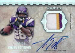 2012  Five Star Adrian Peterson Patch Auto Rainbow Parallel