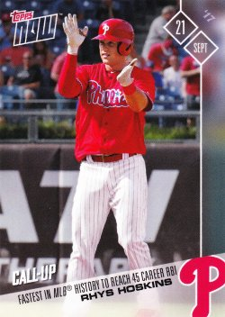 2017 Topps Now Rhys Hoskins #636