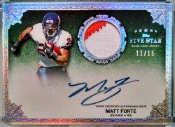 2010 Topps Five Star Matt Forte signature patch rainbow