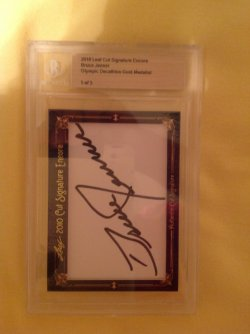 2010 Leaf Cut Signature Encore Bruce Jenner