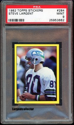 1982 Topps Stickers Steve Largent
