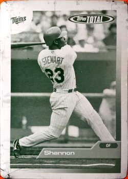 2005 Topps Total Printing Plates Yellow Shannon Stewart 205
