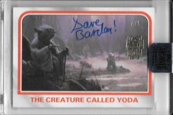 2018 Topps Star Wars Archives Yoda Dave Barclay Auto