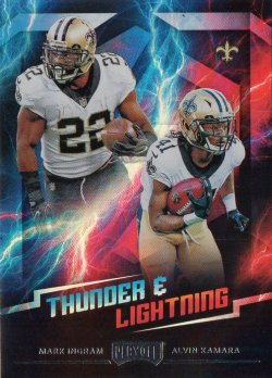 2018 Panini Playoff Thunder and Lightning Alvin Kamara/Mark Ingram