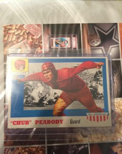 "1955 Topps All-American ""Chub"" Peabody"