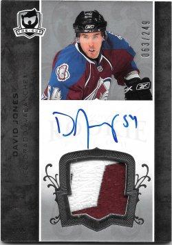 2007-08 Upper Deck The Cup Autographed Rookie Patch David Jones