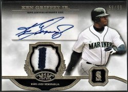 2013   Ken Griffey Jr. Topps Tier One Gold Parallel 2-CLR Patch Auto /99