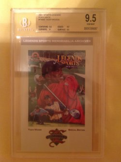 2001  Sports Legends Postcards Tiger Woods #TWSE