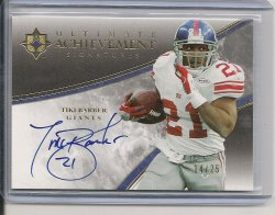 2006 Upper Deck Ultimate Collection Tiki Barber Achievement Signatures