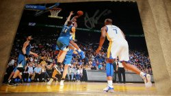 Harrison Barnes 8x10 Photo IP Autograph