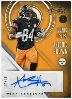 2017   Antonio Brown Absolute Iconic Ink Auto /50