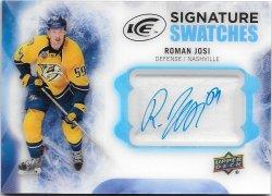 2016-17 Upper Deck Ice Signature Swatches Roman Josi