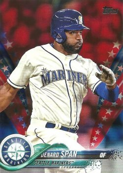 2018 Topps Update Independence Day Denard Span