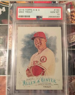 2016 Topps Allen & Ginter Mike Trout