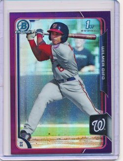 Wilmer Difo 2015 Bowman Chrome Prospects Purple Refractor /250