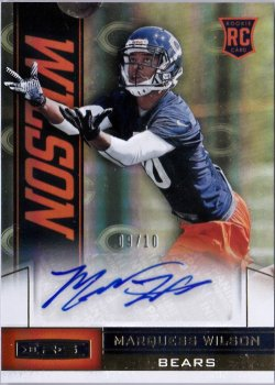 2013 Panini Rookies and Stars Team Logo Gold Rookie Autograph Marquess Wilson