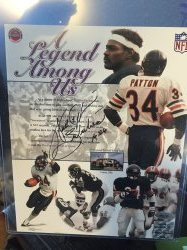Walter Payton Signed Inscribed 8x10