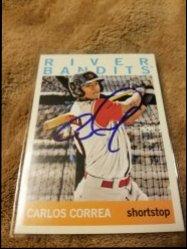2013 Topps Heritage Minors  Carlos Correa IP Auto
