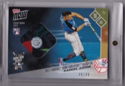 2017 Topps Now Aaron Judge Home Run Derby Sock Relic Blue