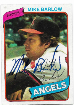 1980 Topps  TTM Mike Barlow 11/24/18