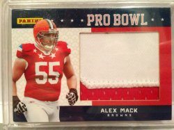 2012 Fleer Fathers Day Alex Mack Patch