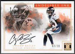 2017   Champ Bailey Impeccable Indelible Ink Gold Parallel Auto #3/10