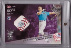 2017 Topps Now Aaron Judge Home Run Derby Ball Relic Purple