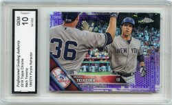 2016 Topps Chrome Mark Teixeira Refractor Purple