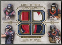 2014 Topps Museum Collections Quad Player Relics Gold DeAndre Hopkins
